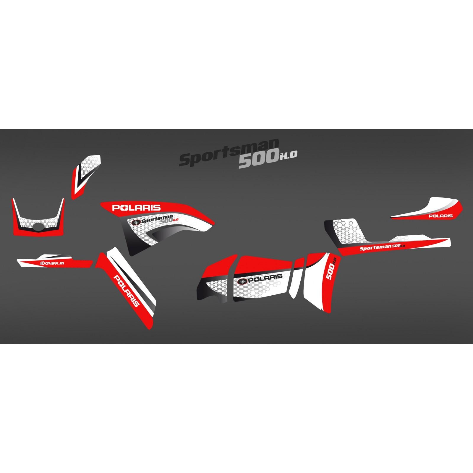 photo du kit décoration , Kit décoration Red Limited Series , IDgrafix , Polaris 500 Sportsman