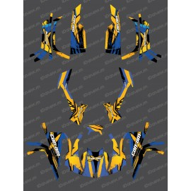 Kit décoration Full Whip (Jaune/Bleu) - IDgrafix - Can Am série L Outlander