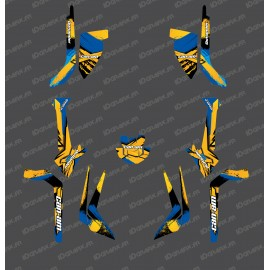 Kit décoration Light WHIP Edition (Jaune / Bleu) - IDgrafix - Can Am Outlander (G2)