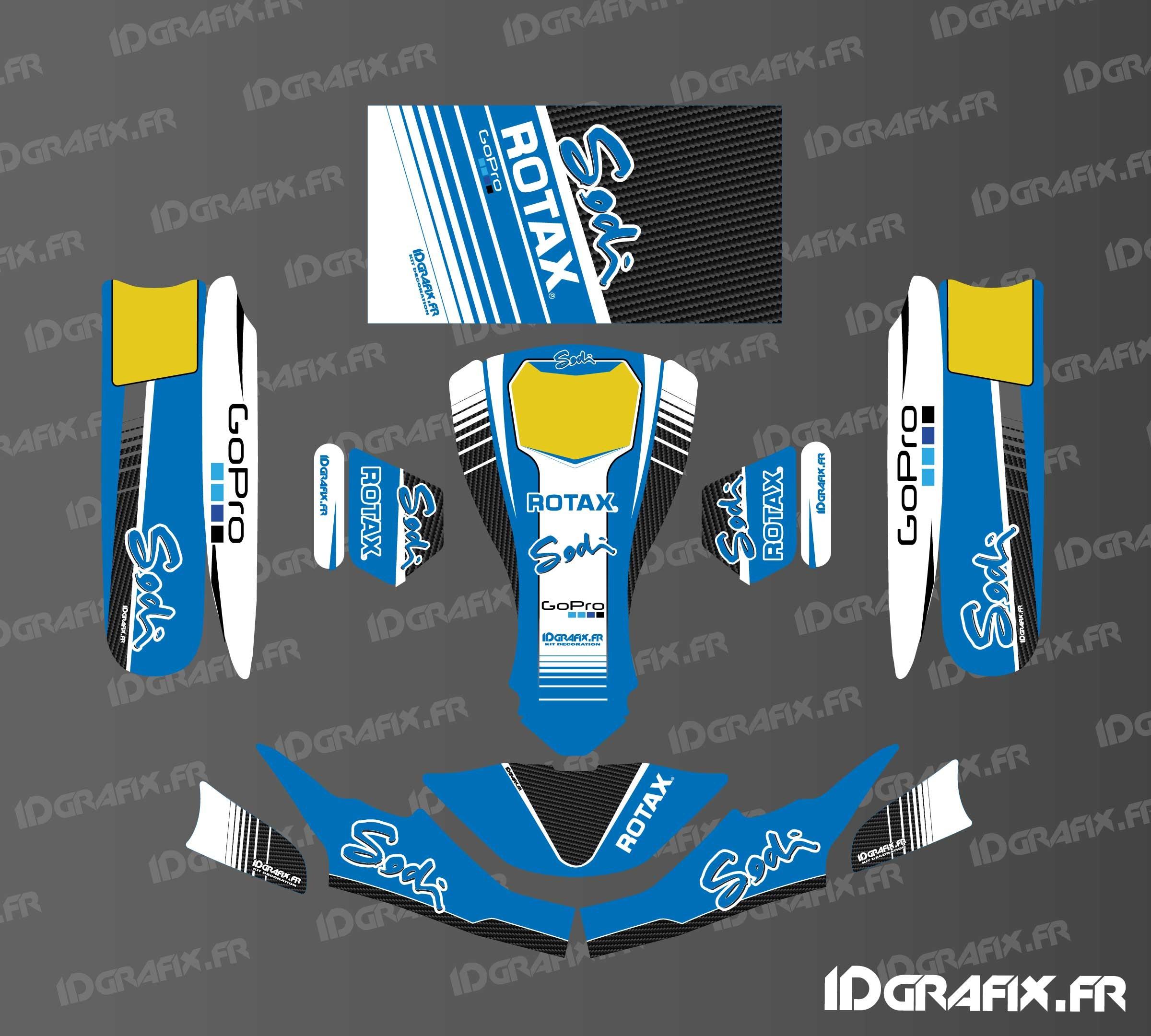 Kit déco Factory Sodi Racing (Bleu) pour Karting SodiKart