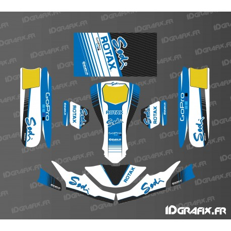 Kit deco factory edition sodi racing white for karting for Deco karting