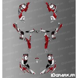 Kit decoração de Caveira Série Completa (Vermelho)- IDgrafix - Pode-Am Renegade