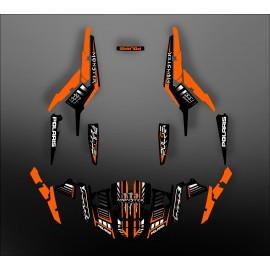 Kit de decoración 100% Personalizado Monstruo Naranja - IDgrafix - Polaris RZR 1000
