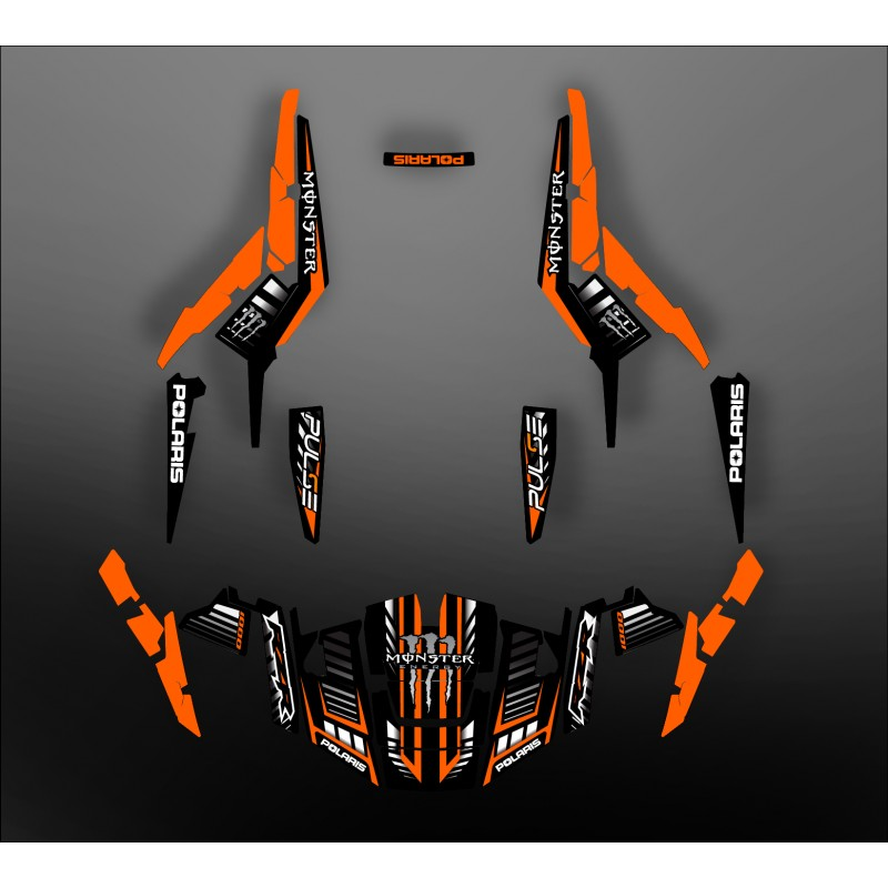 kit d coration 100 perso monster orange idgrafix