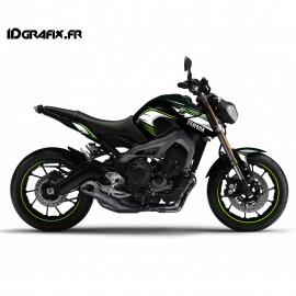 photo du kit décoration - Kit décoration Racing vert - IDgrafix - Yamaha MT-09