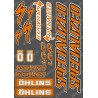 Planche Sticker 21x30cm (Orange/Noir) - Specialized / Ohlins