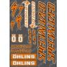 Planche Sticker 21x30cm (Orange/Noir) - Specialized / Ohlins