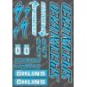 Planche Sticker 21x30cm (Bleu/Noir) - Specialized / Ohlins