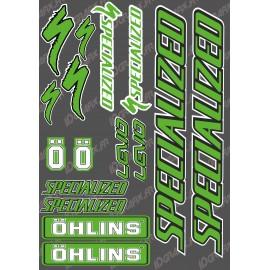 Planche Sticker 21x30cm (Vert/Noir) - Specialized / Ohlins