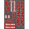 Planche Sticker 21x30cm (Rouge/Noir) - Specialized / Ohlins