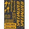 Planche Sticker 21x30cm (Orange Fluo) - Specialized / Ohlins