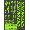 Planche Sticker 21x30cm (Vert Fluo) - Specialized / Ohlins