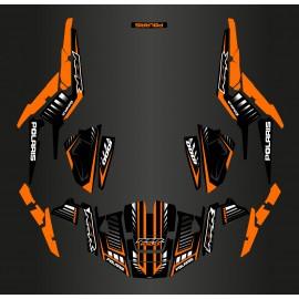 foto del kit, Kit de decoración de la decoración de la Velocidad de Edición (Naranja) - IDgrafix - Polaris RZR 1000 XP