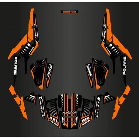 photo du kit décoration - Kit décoration Speed Edition (Orange) - IDgrafix - Polaris RZR 1000 XP