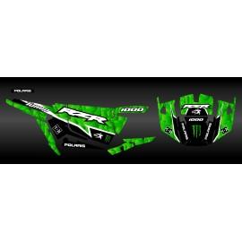 Kit de decoración de XP1K3 Edición (Verde)- IDgrafix - Polaris RZR 1000 Turbo