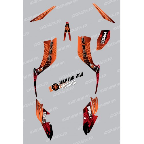 photo du kit décoration - Kit décoration Snake Orange - IDgrafix - Yamaha 250 Raptor