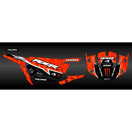 Kit décoration XP1K3 Edition (Orange)- IDgrafix - Polaris RZR 1000 Turbo