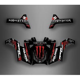 Kit décoration Monster Rouge - IDgrafix - Polaris RZR 800S / 800