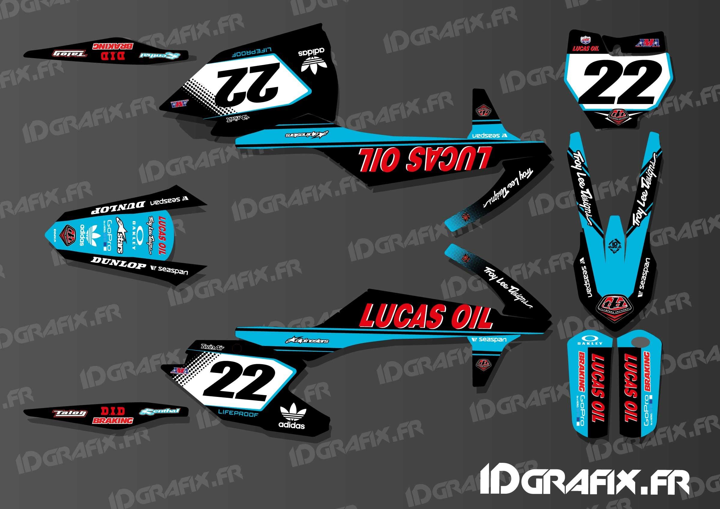 Polaris Trailblazer 250 >> Kit deco Lucas Oil Blue Edition KTM SX - SXF