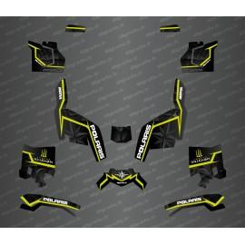 Kit déco side edition (Noir/Jaune Fluo) - Idgrafix - Polaris Sportsman XP 1000 (après 2018)
