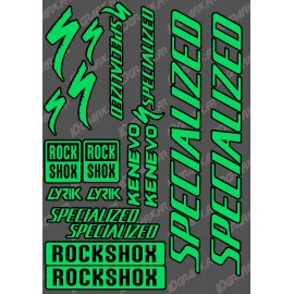 Brett Sticker 21x30cm (Grün/Schwarz) - Specialized / Lyrik