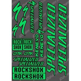 Planche Sticker 21x30cm (Vert/Noir) - Specialized / Lyrik