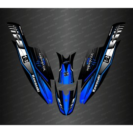 Kit decoração de 100% Personalizado DC (Azul) para a Kawasaki rx do crânio 1500