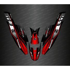 Kit decoração de 100% Personalizado DC (Vermelho) para a Kawasaki rx do crânio 1500