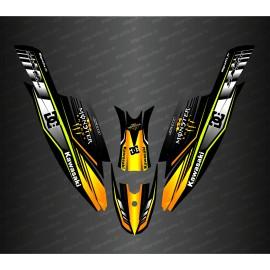 Kit decoração de 100% Personalizado DC (Amarelo) para a Kawasaki rx do crânio 1500