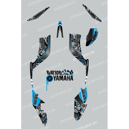photo du kit décoration - Kit décoration Tag Bleu - IDgrafix - Yamaha 250 Raptor