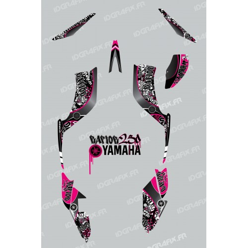 photo du kit décoration - Kit décoration Tag Rose - IDgrafix - Yamaha 250 Raptor