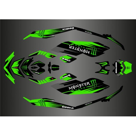 Kit décoration Full Monster Edition (Vert) pour Seadoo Spark