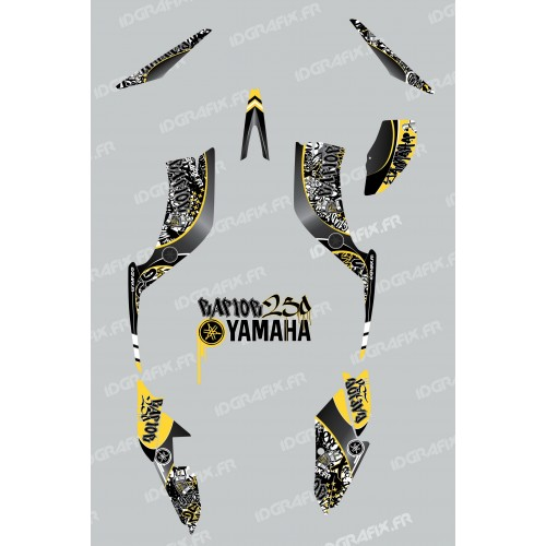 photo du kit décoration - Kit décoration Tag Jaune - IDgrafix - Yamaha 250 Raptor