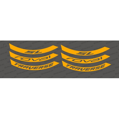 Kit Stickers (Orange Fluo) Jante Roval Traverse SL