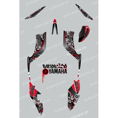 photo du kit décoration - Kit décoration Tag Rouge - IDgrafix - Yamaha 250 Raptor