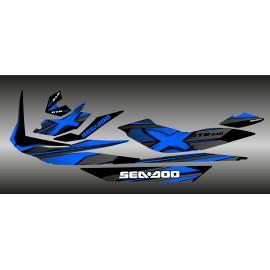 Kit décoration Factory Bleu pour Seadoo GTR 230