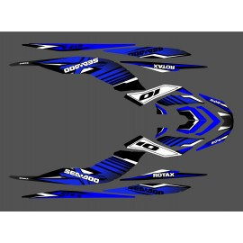 Kit décoration Factory Bleu pour Seadoo GTR-X 230