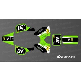 Kit décoration 100% Perso Monster Edition Full (Vert) - IDgrafix - Honda QR 50