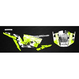 Kit de decoración de MonsterRace Verde /Blanco - IDgrafix - Polaris RZR 1000