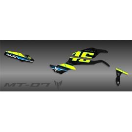 Kit de decoración de la Serie GP Verde - IDgrafix - Yamaha MT-07