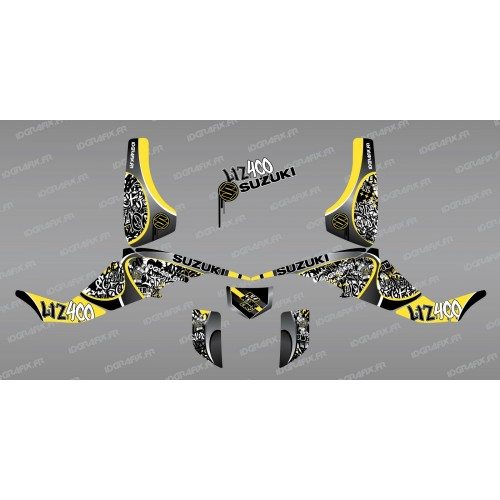 photo du kit décoration - Kit décoration Tag Jaune - IDgrafix - Suzuki LTZ 400