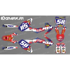 photo du kit décoration - Kit décoration 100% Perso - KTM 65 SX 2016-2017 - M. SIROP