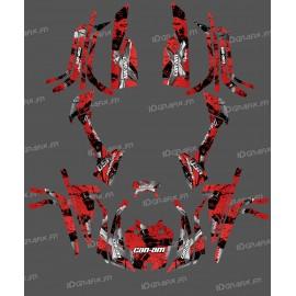 Kit décoration Full Brush (Rouge) - IDgrafix - Can Am série L Outlander