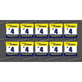 Lotto di 10 Adesivi dei mozzi delle ruote Husqvarna