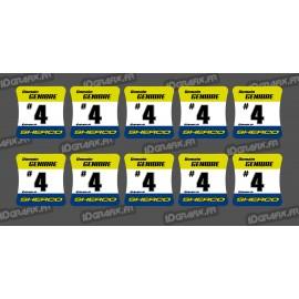 Lot de 10 Stickers de moyeux de roues Sherco