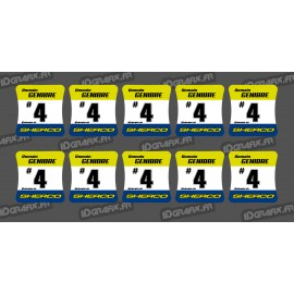 Lotto di 10 Adesivi di mozzi KTM