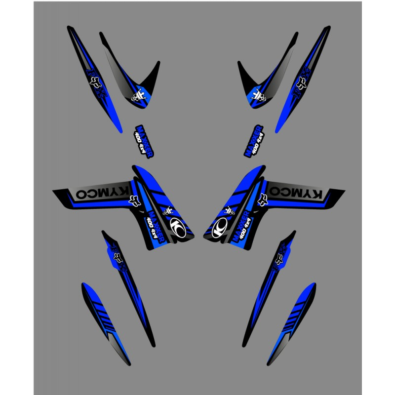 kit d co fox edition bleu kymco 400 450 maxxer kit. Black Bedroom Furniture Sets. Home Design Ideas