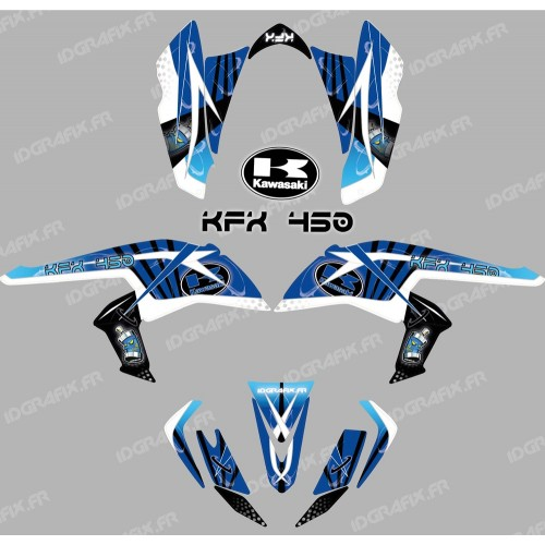 photo du kit décoration - Kit décoration Space Bleu - IDgrafix - Kawasaki KFX 450R