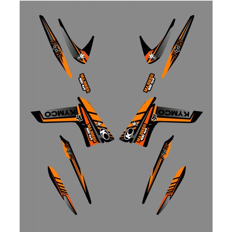 kit d co fox edition orange kymco 400 450 maxxer kit deco qu. Black Bedroom Furniture Sets. Home Design Ideas