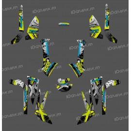 Kit décoration Brush Series (Gris/Vert Manta/Bleu) Medium - IDgrafix - Can Am Outlander (G2)